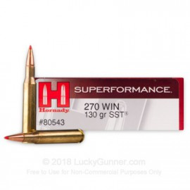 270 WIN SUPERFORMANCE HORNADY 130 GR SST